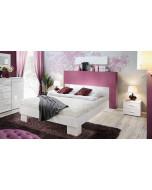 Łóżko Vicky 140 Biały/Biały Połysk