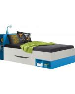 Łóżko 90 KOMI 22 Jesion Komi/Blue Bez materaca