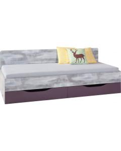 Łóżko 90 TABLO 12 A+B Grafit/Biały/Atlantic Bez materaca