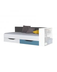 Łóżko 90 TABLO 12 A Grafit/Biały/Atlantic Bez materaca