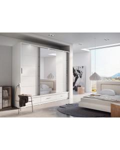 Garderob med skjutdörrar 3d3s med LED belysning Arti AR-01 - Europa möbler billigt online
