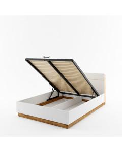 Łóżko z pojemnikiem na pościel i z LED Dentro DT-02