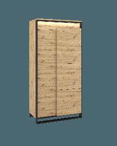 Garderob 2d med LED belysning Quant QA-01 - Europa möbler billigt online